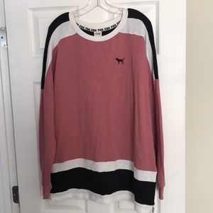 PINK VS Campus Colorblock Sweatshirt